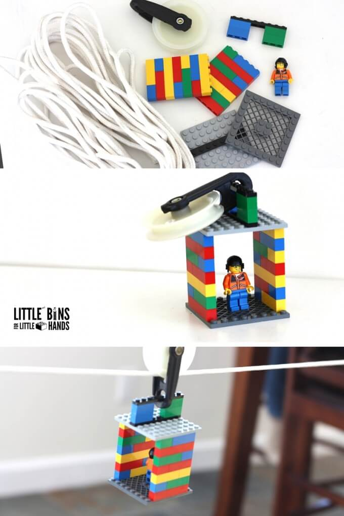 Lego Zip Line Activity And Kid S Stem Challenge