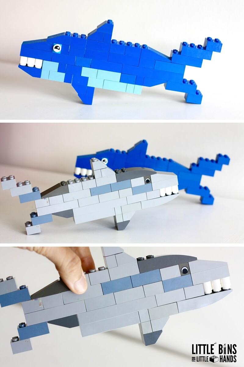 Акула из лего как сделать