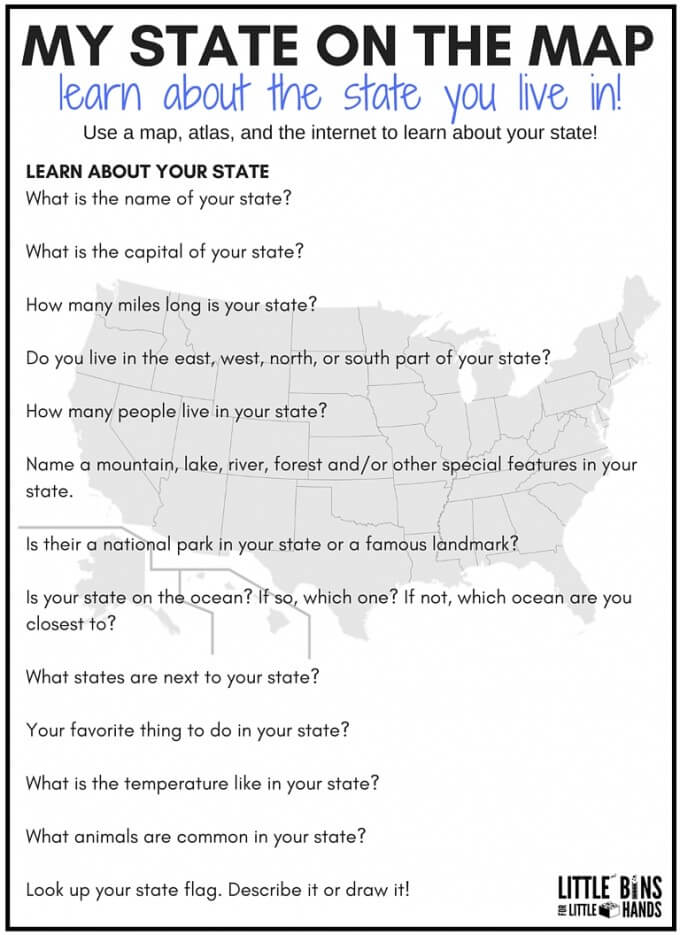 geography scavenger hunt my state