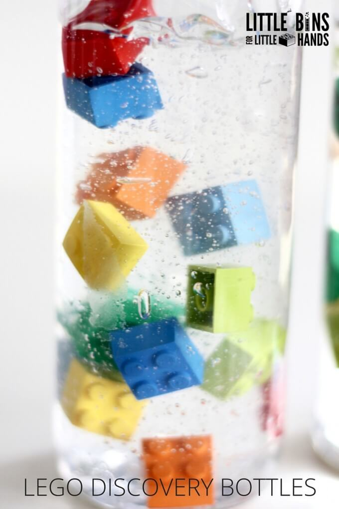LEGO Discovery Bottles Exploring Viscosity Science Experiment