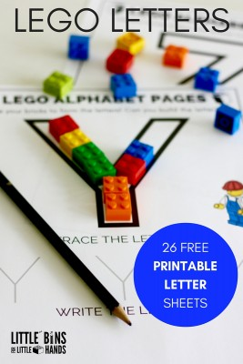 LEGO Letter activity printable pages for kids