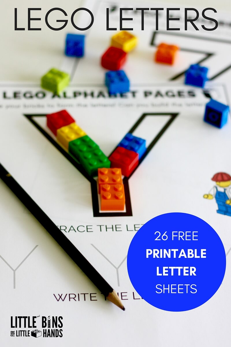 image relating to Printable Lettering Free referred to as Coach Composing With LEGO Letters Very little Boxes for Minor