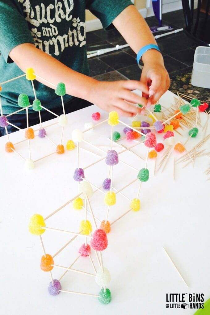 Building Gumdrop Structures Engineering Activity