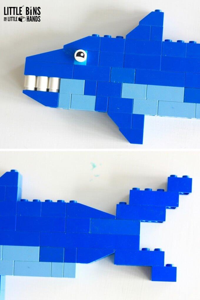 Shark Week Activity with LEGO Sharks