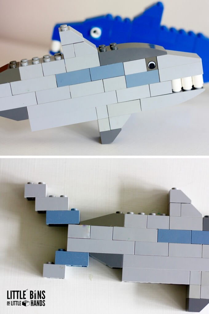 LEGO Sharks with Basic Bricks