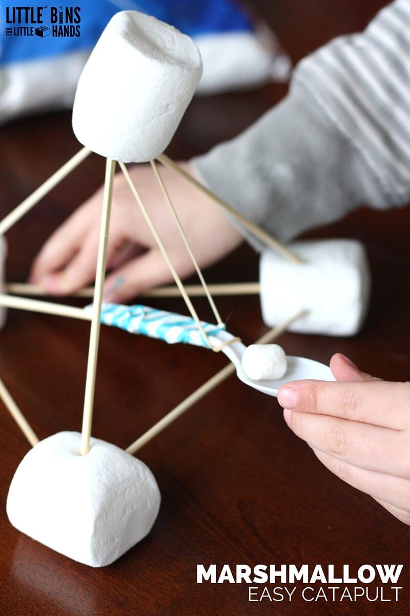 Marshmallow Catapult For Stem