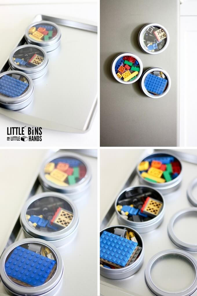 DIY Magnetic LEGO Travel Tray Cookie Sheet