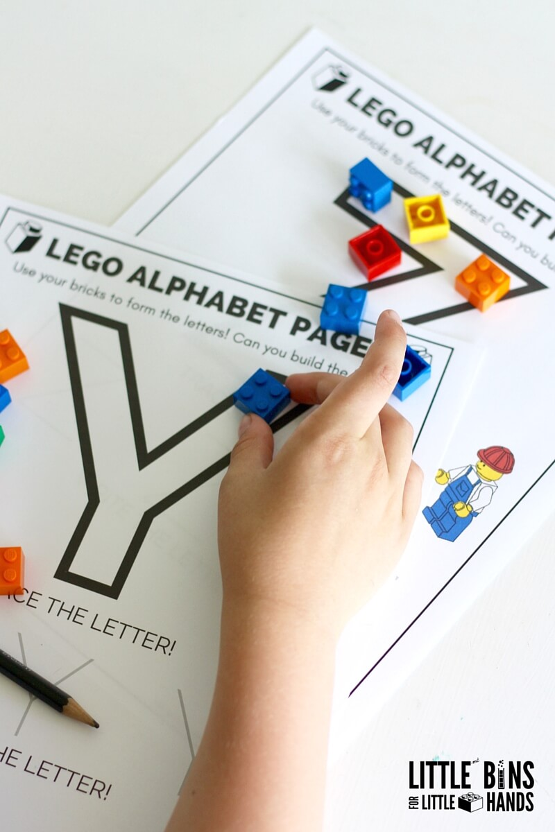 image about Lego Letters Printable known as Teach Composing With LEGO Letters Very little Boxes for Minor