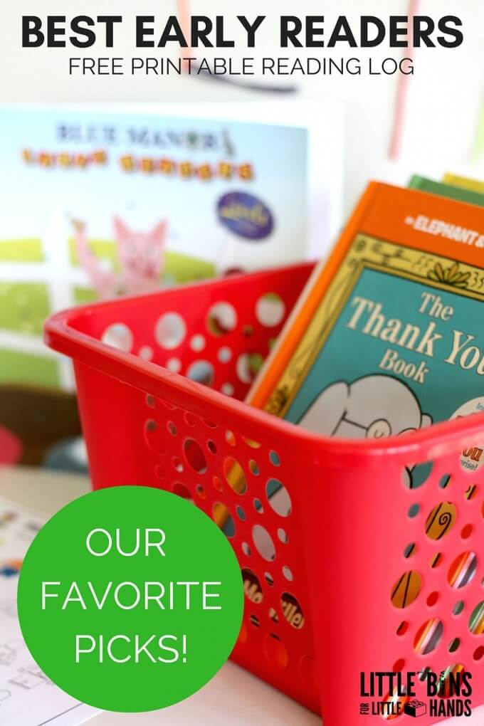 Best Early Reader Books and Free Printable Reading Log-2
