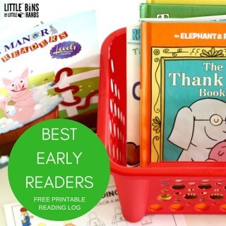 Best Early Reader Books and Free Printable Reading Log