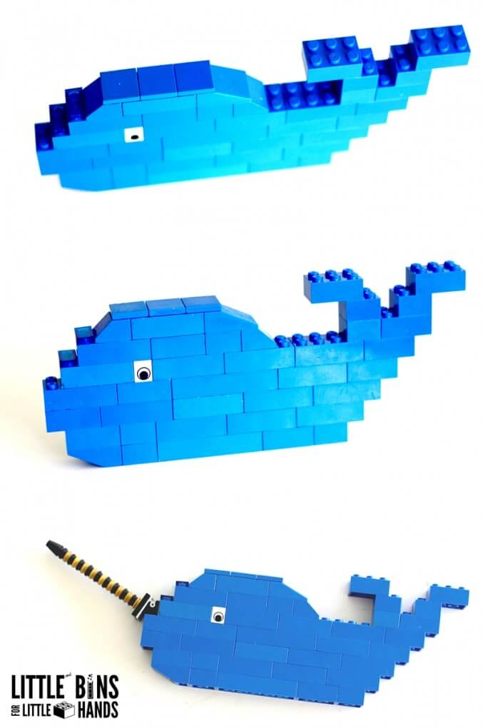Building a LEGO Whale the Narwhal