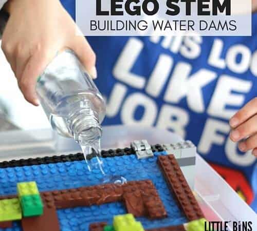 LEGO Water Activity For Building Dams and Exploring The Flow of Water