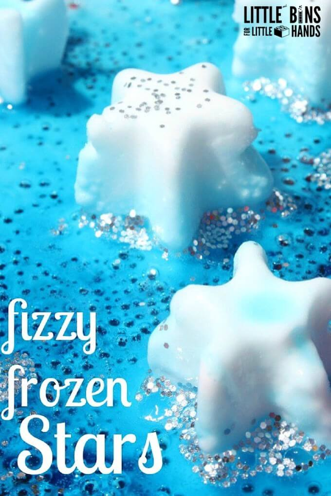Fizzing Frozen Stars Summer Science Activity Independence Day or 4th of July activity too