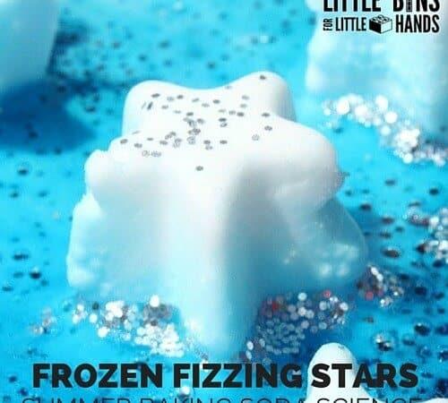 Frozen Stars Fizzy Baking Soda Science for Kids