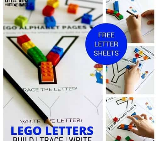 LEGO Letter Activity and Free Printable Letter Pages