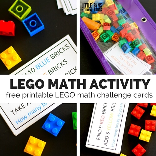 LEGO Math Challenge Cards Make Math Skills A Breeze