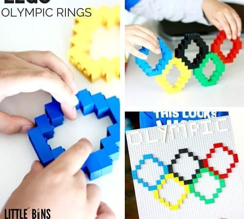 LEGO Olympic Rings Activity: Building With Basic Bricks