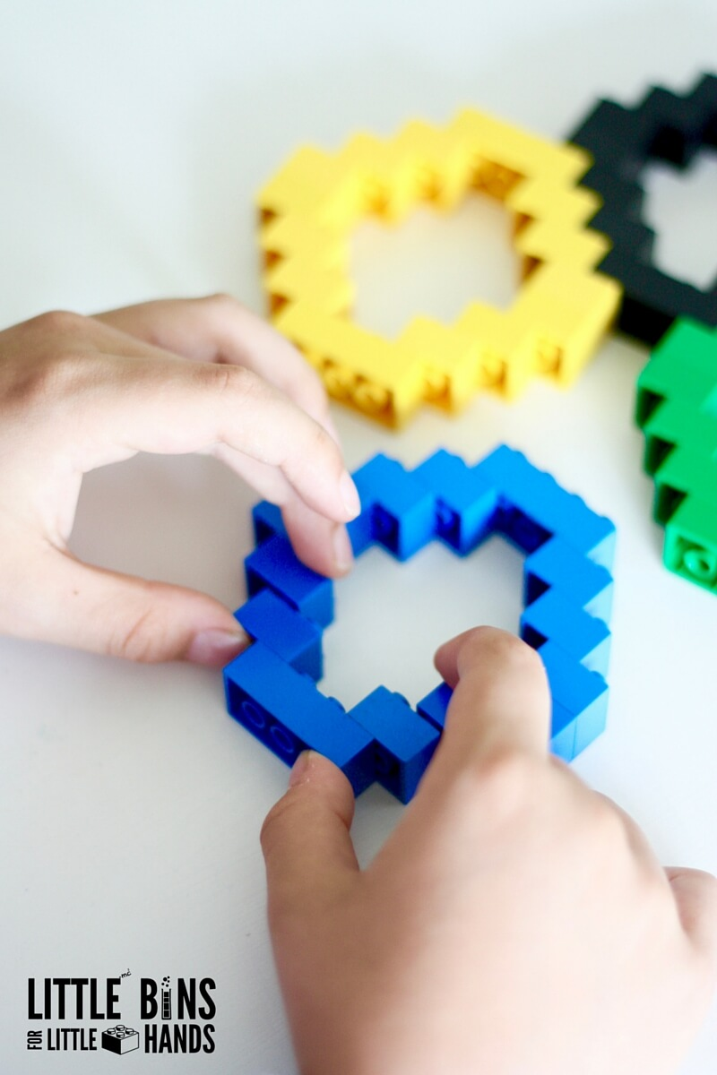 Lego olympic rings activity with basic bricks lego olympic rings building activity biocorpaavc Images