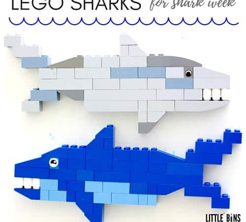 Build LEGO Sharks for Kid's SharK Week Activities