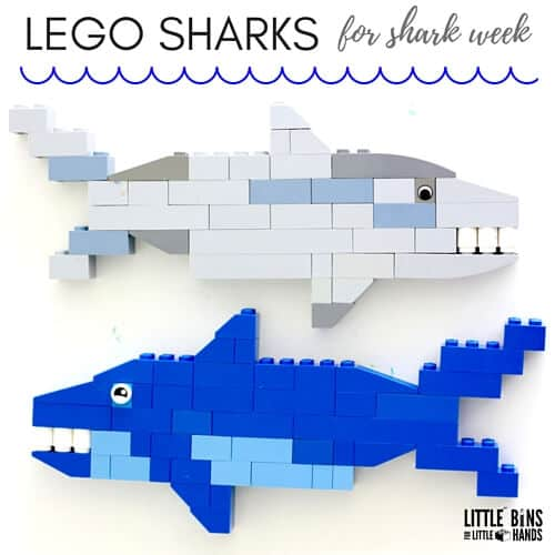 shark week activities - LEGO sharks