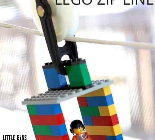 LEGO Zip Line Activity and STEM Challenge