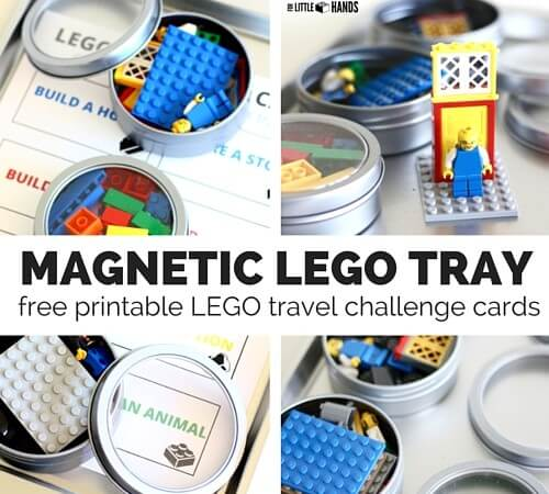Magnetic LEGO Travel Tray with Free LEGO Challenge Cards