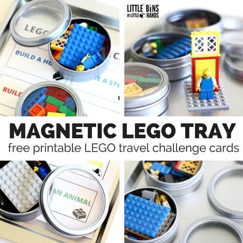 magnetic LEGO travel kit