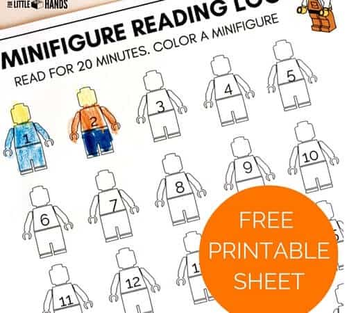 Minifigure Printable Reading Log For Kids