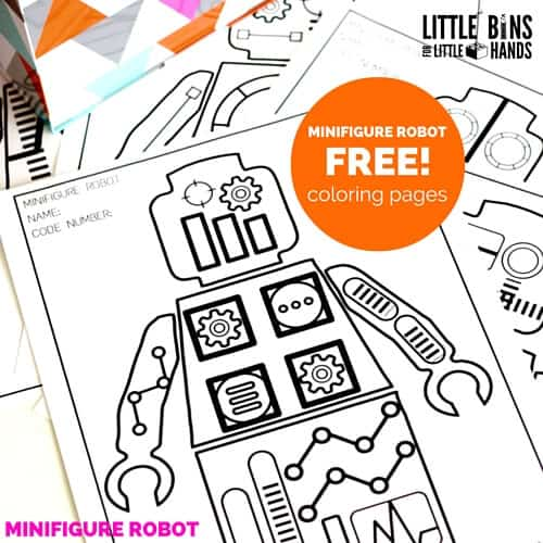 minifigure robot coloring pages and free printable coloring sheets for kids
