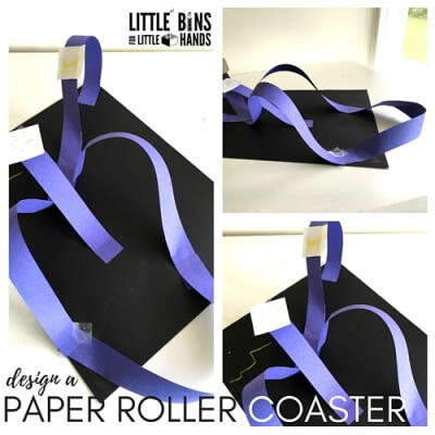 paper roller coaster designing activity