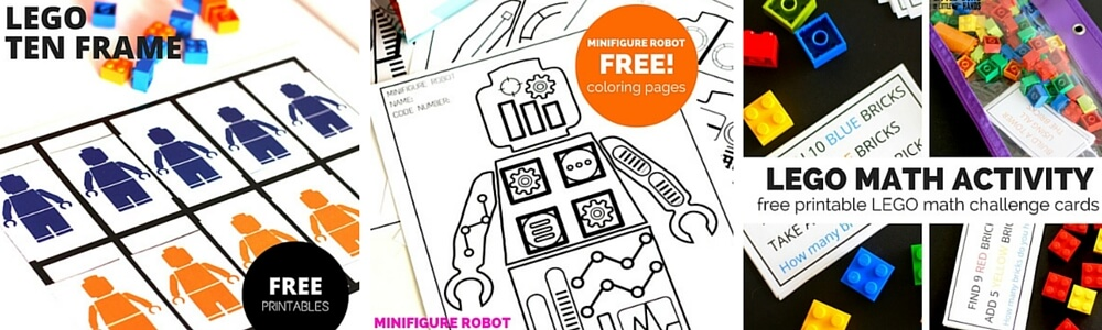 LEGO Learning Pages Free Printables