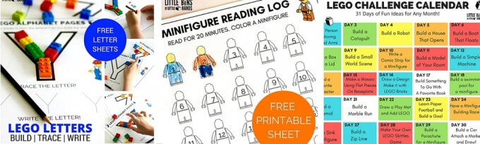 LEGO learning pages for kids