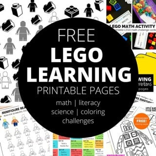 Free Printable LEGO Learning pages for Kids