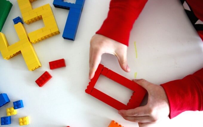 Build LEGO letters design
