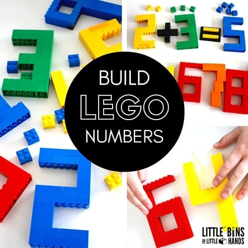 Build LEGO Numbers for Counting Number Sentences Adding Subtracting Math Activities