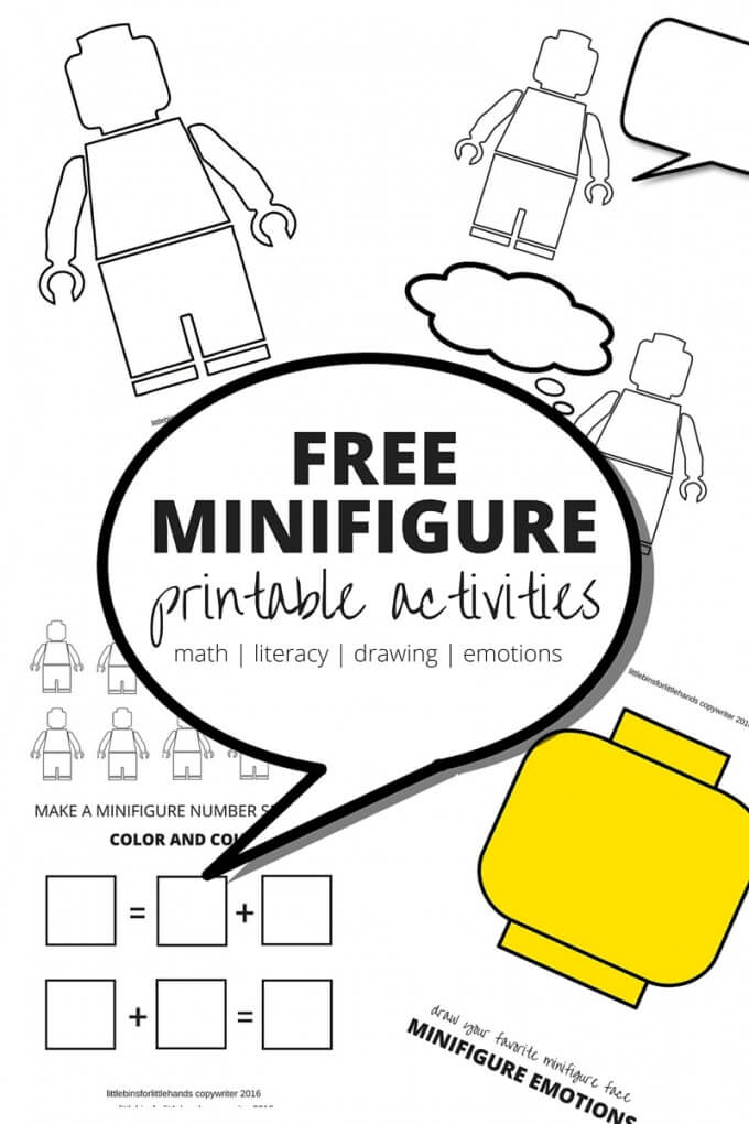 Minifigure worksheets