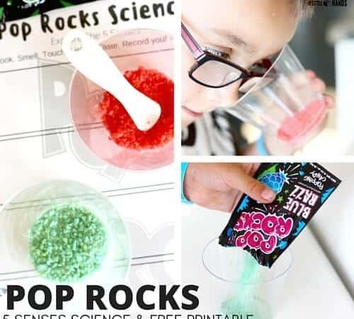5 Senses Pop Rocks Science Activity