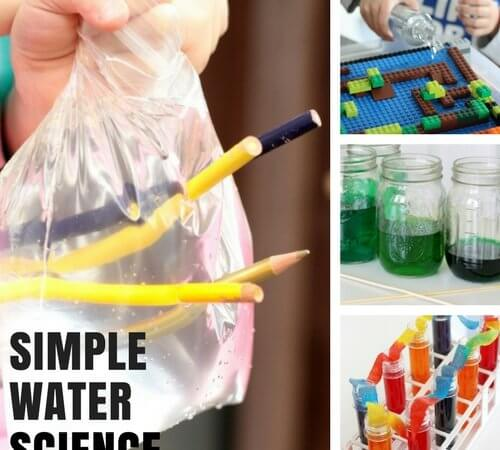 Quick Water Science Activities for Preschool and Kindergarten Science