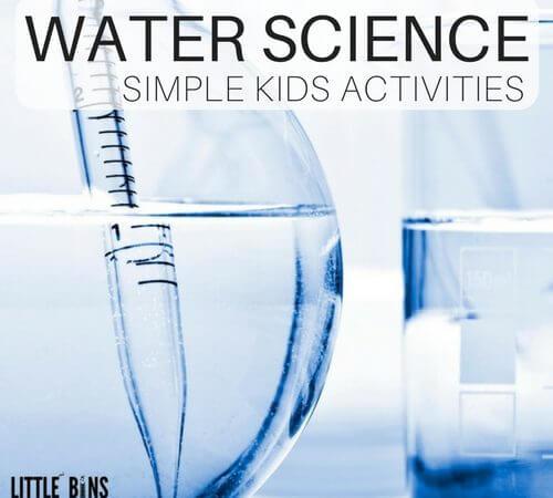 Quick Water Science Activities for Preschool and Kindergarten Science