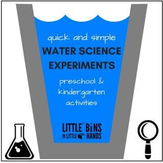 quick water science activities for preschool and kindergarten science ideas