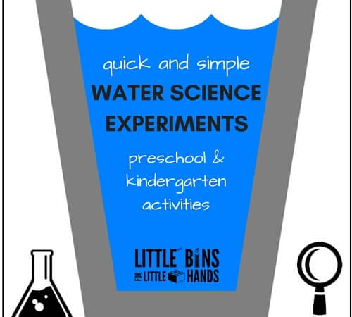 Kindergarten and Preschool Water Science Activities