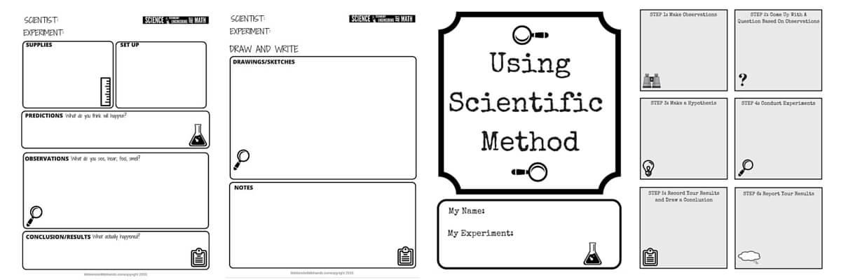 STEM Challenge Worksheets FREE Printable – Scientific Method Worksheet Elementary