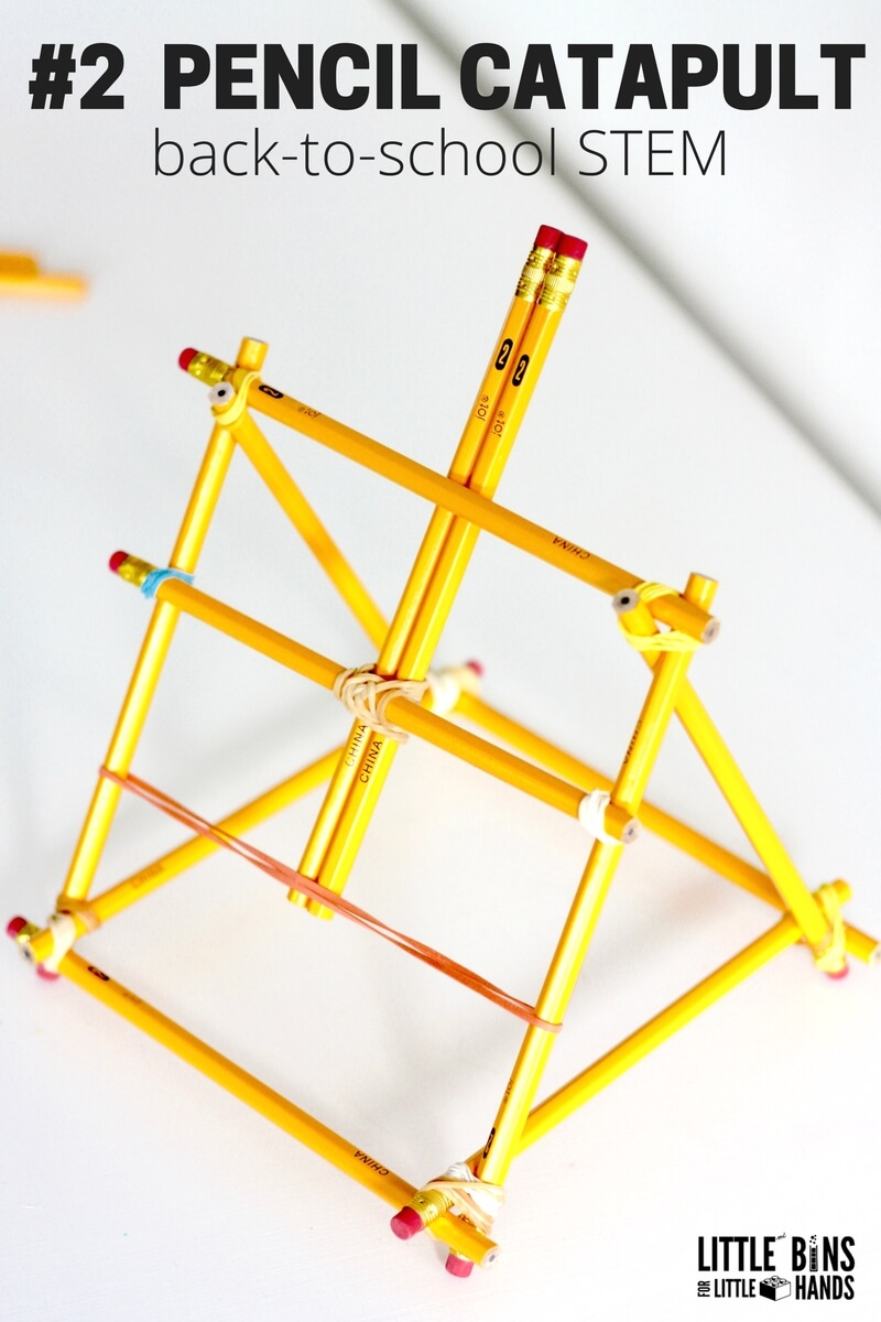 Pencil Catapult Stem Activity For Back To School