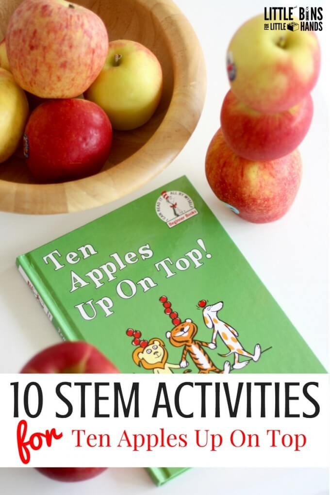 Apple STEM activities for 10 Apples Up On Top