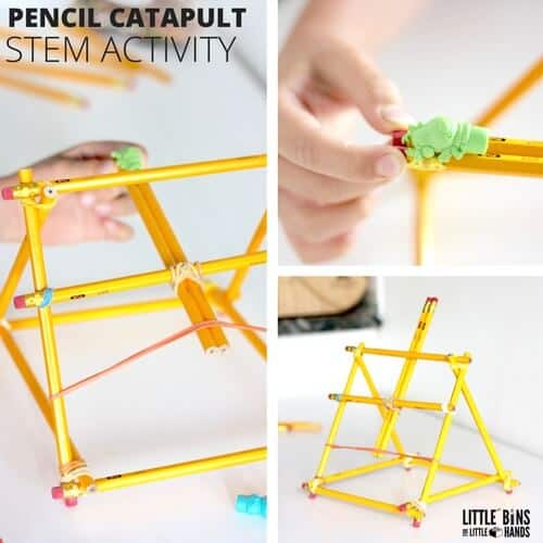 Pencil Catapult Back To School STEM Activity for Kids