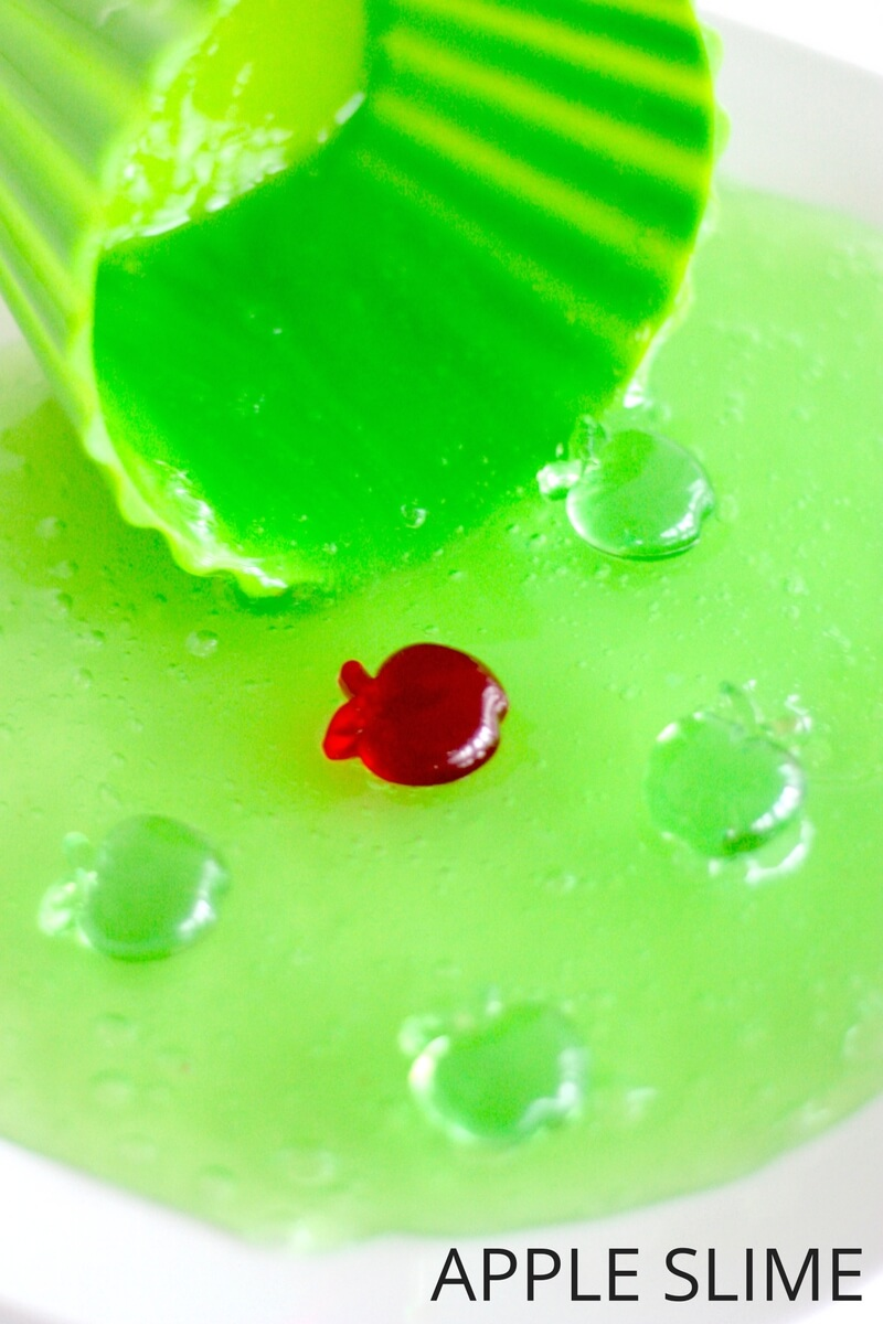Green Apple Slime Recipe Fall Activity