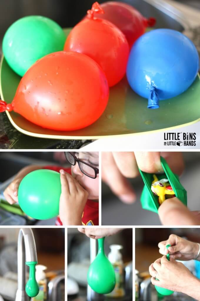 hatch Pokemon Eggs filling balloons and setting up pokemon science activity