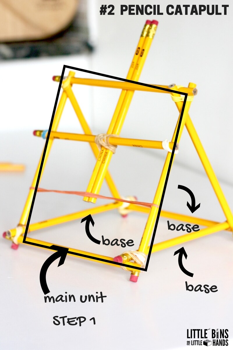 Pencil Catapult Stem Activity For Back To School Diagram 3