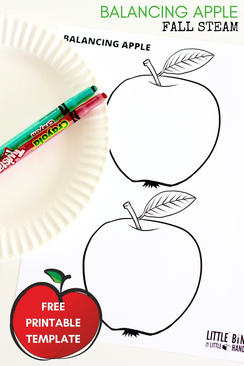 graphic about Apple Template Printable known as Balancing Apple (Totally free Printable) Tumble STEM Recreation