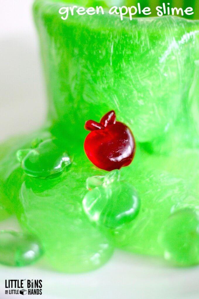 Easy green apple slime for play
